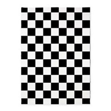 BLACK AND WHITE Checkered Pattern 5'x7'Area Rug