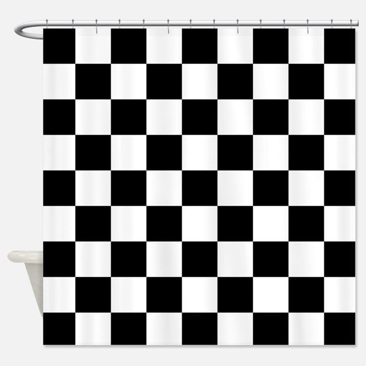 Checkered Flag Shower Curtains Checkered Flag Fabric Shower Curtain Liner