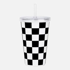 BLACK AND WHITE Checkered Pattern Acrylic Double-w