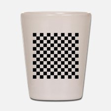 BLACK AND WHITE Checkered Pattern Shot Glass