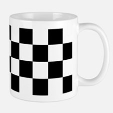 BLACK AND WHITE Checkered Pattern Mugs
