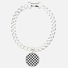 BLACK AND WHITE Checkered Pattern Bracelet