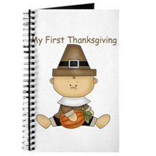 My First Thanksgiving - Baby Boy With Pumpkin Jour