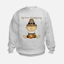 My First Thanksgiving - Baby Boy With Pumpkin Swea