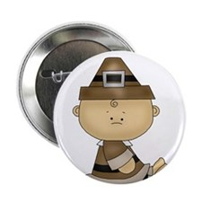 """My First Thanksgiving Baby Boy 2.25"""" Button (10 pa"""