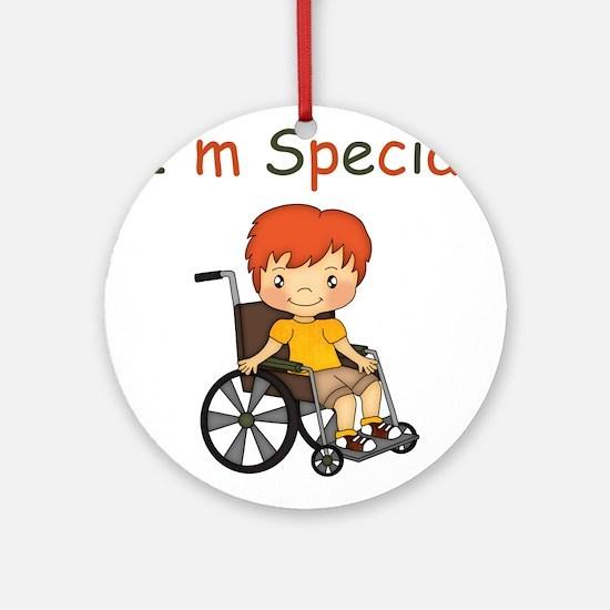 I'm Special - Wheelchair - Boy Ornament (Round)