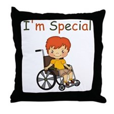 I'm Special - Wheelchair - Boy Throw Pillow