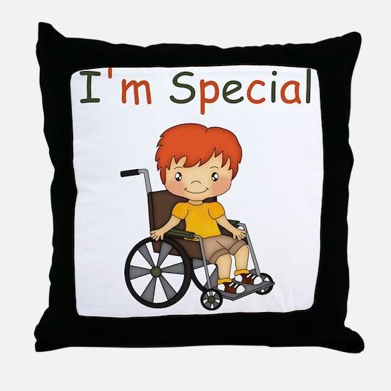 I'm Special - Wheelchair - Boy Throw Pillow