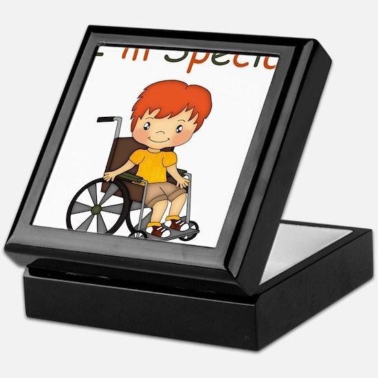 I'm Special - Wheelchair - Boy Keepsake Box