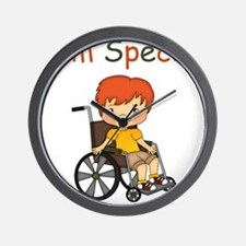 I'm Special - Wheelchair - Boy Wall Clock