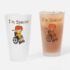 I'm Special - Wheelchair - Boy Drinking Glass