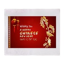 chinese new year Throw Blanket