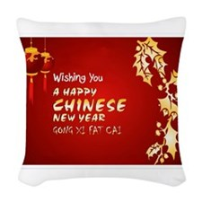 chinese new year Woven Throw Pillow