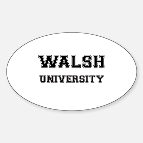 WALSH UNIVERSITY Oval Decal