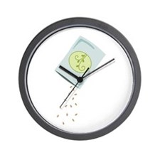Seed Pouch Wall Clock
