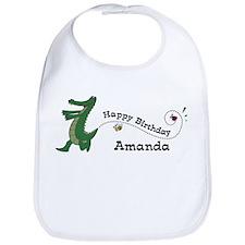 Happy Birthday Amanda (gator) Bib