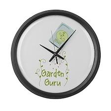 Seeds Garden Guru Large Wall Clock