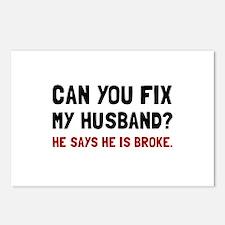 Fix Husband Broke Postcards (Package of 8)