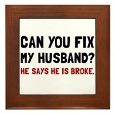 Fix Husband Broke Framed Tile