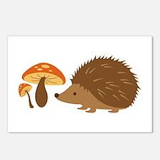 Hedgehog with Mushrooms Postcards (Package of 8)