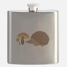 Hedgehog with Mushrooms Flask