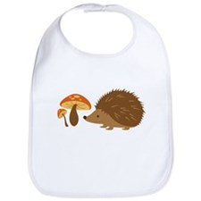 Hedgehog with Mushrooms Bib
