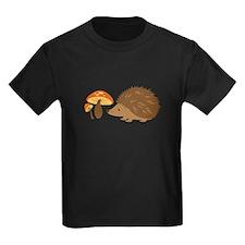 Hedgehog with Mushrooms T-Shirt