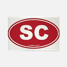 South Carolina SC Euro Oval Rectangle Magnet
