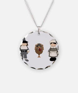 Thanksgiving - Pilgrim and Turkey Necklace