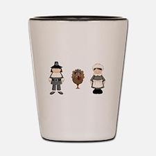 Thanksgiving - Pilgrim and Turkey Shot Glass