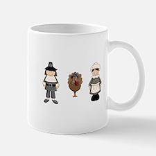 Thanksgiving - Pilgrim and Turkey Mugs