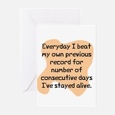Everyday I beat record Greeting Cards (Package of