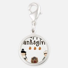 Happy Thanksgiving Pilgrims and Turkey Charms
