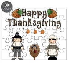 Happy Thanksgiving Pilgrims and Turkey Puzzle