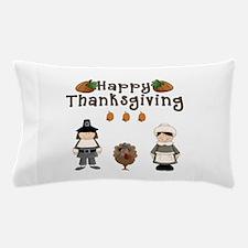 Happy Thanksgiving Pilgrims and Turkey Pillow Case