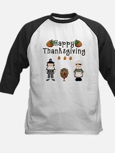 Happy Thanksgiving Pilgrims and Turkey Baseball Je