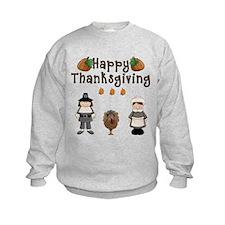 Happy Thanksgiving Pilgrims and Turkey Sweatshirt