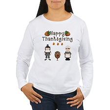 Happy Thanksgiving Pilgrims and Turkey Long Sleeve