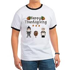 Happy Thanksgiving Pilgrims and Turkey T-Shirt