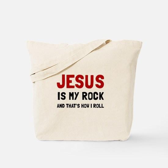 Jesus Rock Roll Tote Bag
