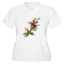 Holly and berries Plus Size T-Shirt