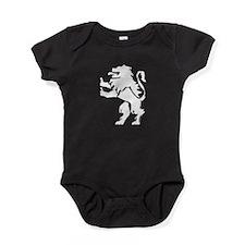 Lion Statue Silhouette Baby Bodysuit
