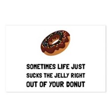 Life Sucks Jelly Donut Postcards (Package of 8)
