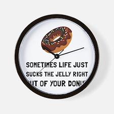 Life Sucks Jelly Donut Wall Clock