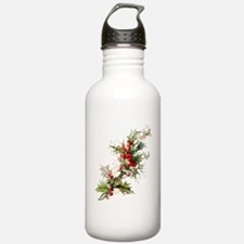 Holly and berries Water Bottle