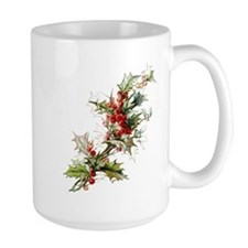Holly and berries Mugs