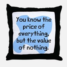 Price of everything but Throw Pillow