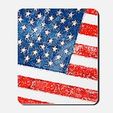 Grungy USA Flag Mousepad