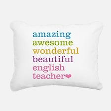 English Teacher Rectangular Canvas Pillow