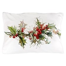 Holly and berries Pillow Case